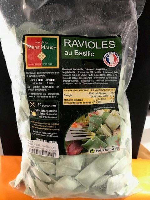 RAVIOLES BASILIC VERT 2KG SURG